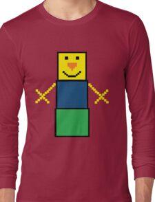 Pixel the snowman noob edition Long Sleeve T-Shirt