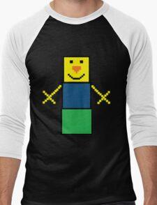 Pixel the snowman noob edition Men's Baseball ¾ T-Shirt