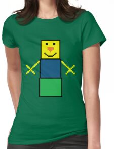 Pixel the snowman noob edition Womens Fitted T-Shirt