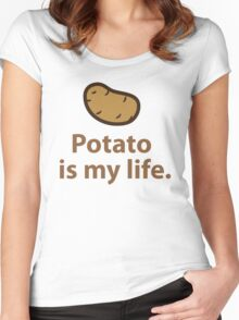 Potato is my life. Women's Fitted Scoop T-Shirt