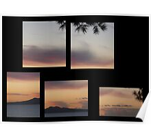 Rangitoto Sunset Poster