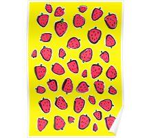 Fresas de primavera Poster