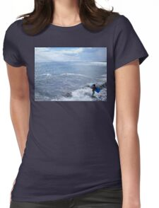 Afternoon In The Surf, Tahiti Womens Fitted T-Shirt