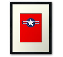 American WWII airforce logo Framed Print
