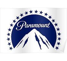 Paramount 1980s Mountain (white) Poster
