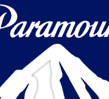 Paramount 1980s Mountain (white) Sticker