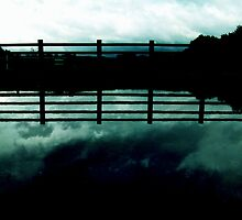 the cloud the fence (aqua) by georgeisme