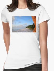Palm Tattoo, Cocos Islands Womens Fitted T-Shirt