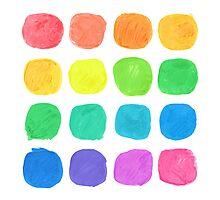 Watercolor Blobs Photographic Print