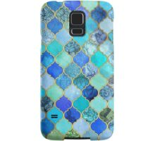 Cobalt Blue, Aqua & Gold Decorative Moroccan Tile Pattern Samsung Galaxy Case/Skin