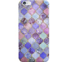 Royal Purple, Mauve & Indigo Decorative Moroccan Tile Pattern iPhone Case/Skin