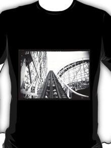 """The Cyclone"" Roller Coaster, Revere Beach - Hill negative T-Shirt"