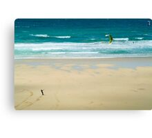 Kiteboarding in Cornwall 2 Canvas Print
