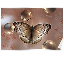 Moth and Bubbles Poster