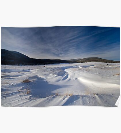 Snow and clouds in the mountains of Utah Poster