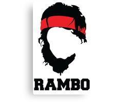 RAMBO Design Canvas Print