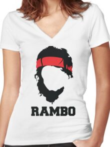 RAMBO Design Women's Fitted V-Neck T-Shirt