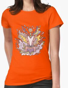 Abstract deer Womens Fitted T-Shirt