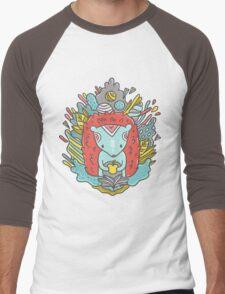 Abstract hedgehog Men's Baseball ¾ T-Shirt
