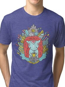 Abstract hedgehog Tri-blend T-Shirt