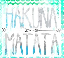lion king hakuna matata blue and grey with arrows  by alyciathefox