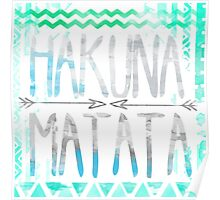 lion king hakuna matata blue and grey with arrows  Poster
