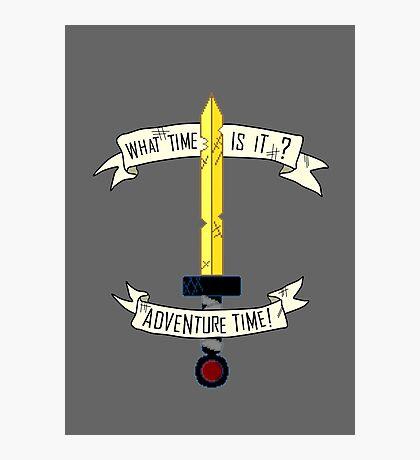 Adventure Time sword design Photographic Print