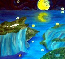 Moonlit seascape by Mette98