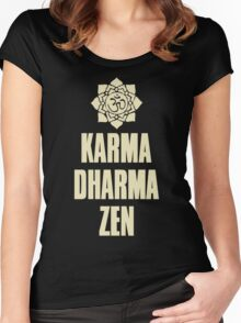 Karma Dharma Zen Women's Fitted Scoop T-Shirt