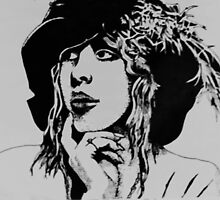 Stevie Nicks with Feathered Beret by AnneMerritt