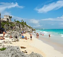 Mayan Ruins at Tulum, Mexico by Teresa Zieba
