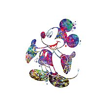 Mickey Mouse Disney Watercolor Photographic Print