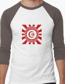 Mandala 34 Version 2 Yin-Yang Colour Me Red  Men's Baseball ¾ T-Shirt