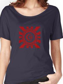 Mandala 34 Version 2 Yin-Yang Colour Me Red  Women's Relaxed Fit T-Shirt