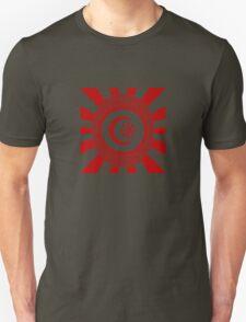 Mandala 34 Version 2 Yin-Yang Colour Me Red  Unisex T-Shirt
