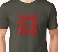 Mandala 34 Version 2 Yin-Yang Colour Me Red  Unisex T-Shirt