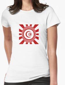 Mandala 34 Version 2 Yin-Yang Colour Me Red  Womens Fitted T-Shirt