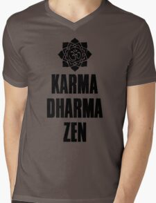 Karma Dharma Zen Mens V-Neck T-Shirt