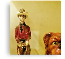 Ceramic Cowboy Canvas Print