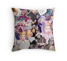 Max Malanaphy Collage Throw Pillow