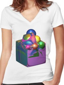 Thinking Outside Of The Box Women's Fitted V-Neck T-Shirt