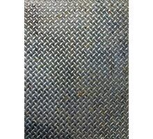 Grunge Metal Grate Photographic Print