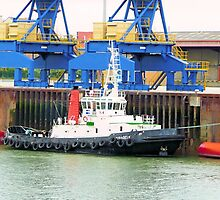 Tug Boat Calais, France by Woodie
