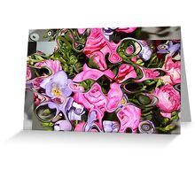 B-FLOWERS EFFECT COLLECTION Greeting Card