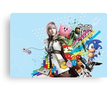 Video Games Mix (1) Canvas Print