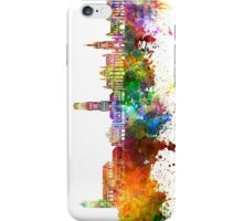 Bruges skyline in watercolor background iPhone Case/Skin