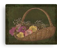 The Flower basket Canvas Print