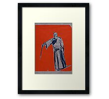Iaido orange Framed Print