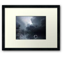 Obsidian Mirror Framed Print