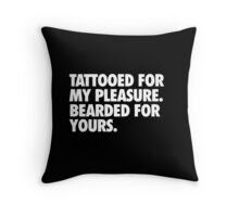Tattooed & Bearded Throw Pillow